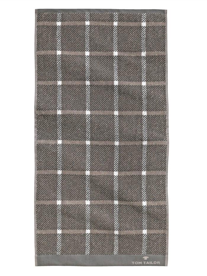 Tom Tailor Liegetuch - Jacquard Towel, Dunkelgrau