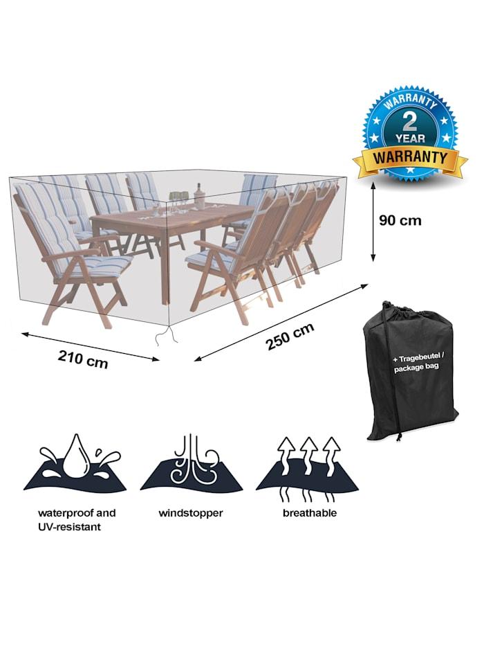 Black Premium Gartensitzgruppenhülle  250x210x90cm /garden dining set cover /  atmungsaktiv /