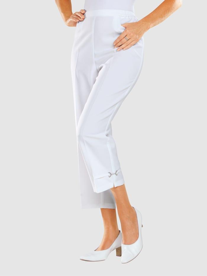 m. collection 7/8-housut, Valkoinen