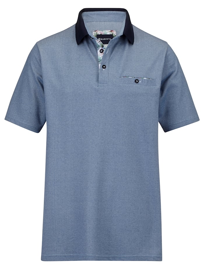 BABISTA Polo bicolore, Bleu