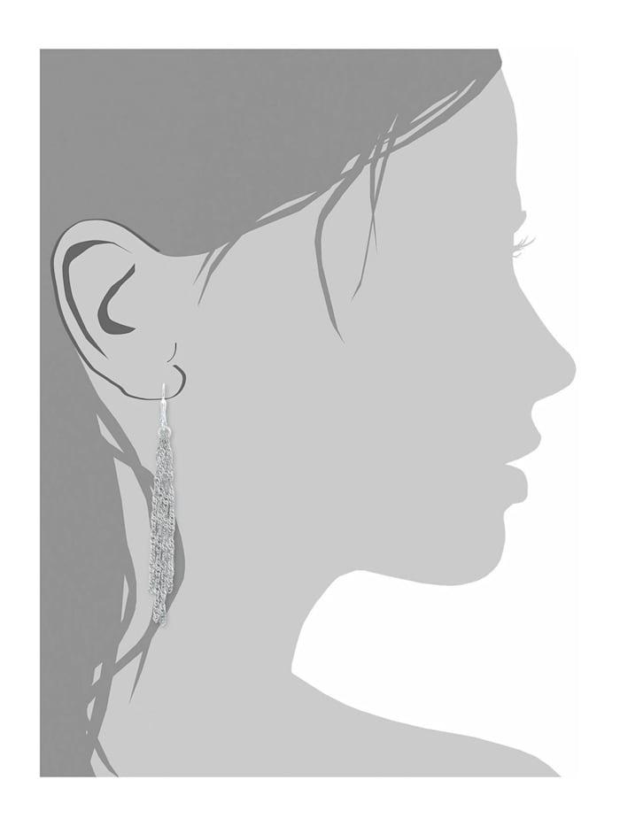 Ohrhänger amor Damen-Ohrhänger 8 cm 925 Sterling Silber rhodiniert Brisurverschluss