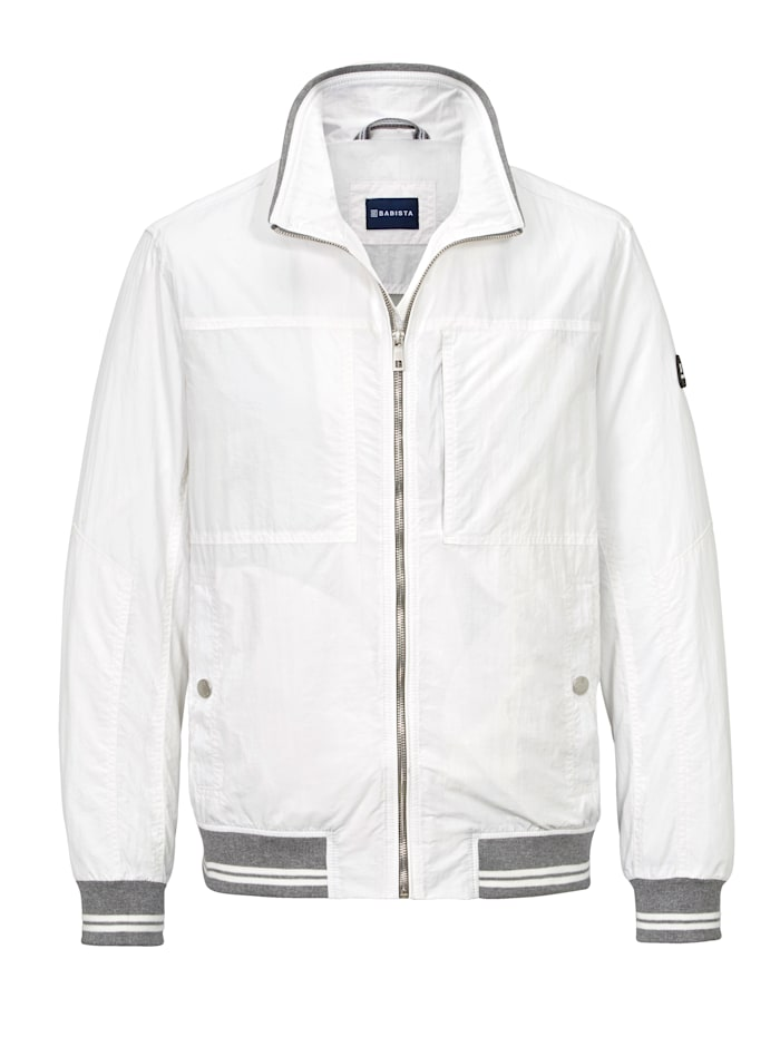 BABISTA Blouson in college style, Wit
