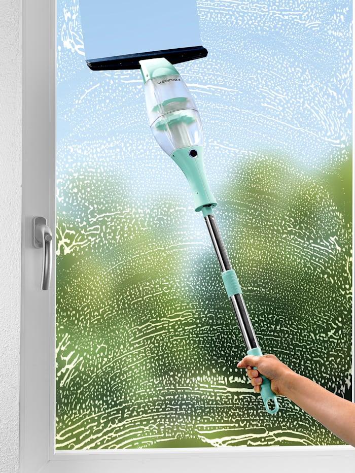 Cleanmaxx Nettoyeur pour vitres à batterie CLEANmaxx, avec manche télescopique pratique, Menthe/noir