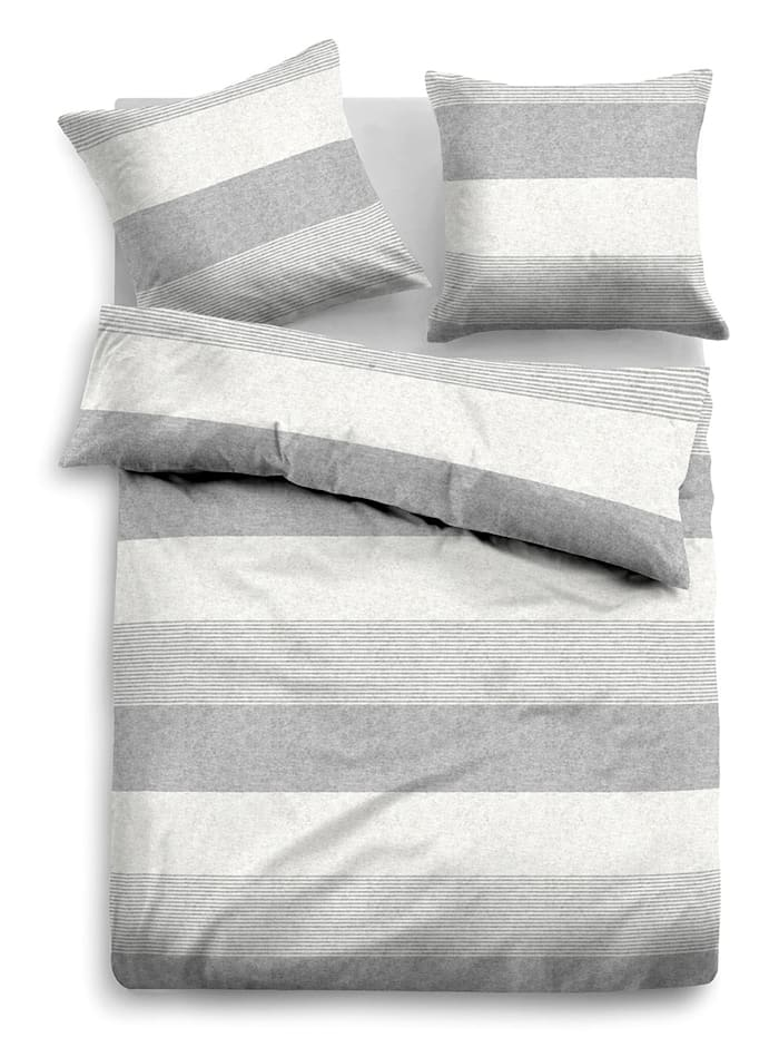 Tom Tailor 2-delige set bedlinnen Nele, grey