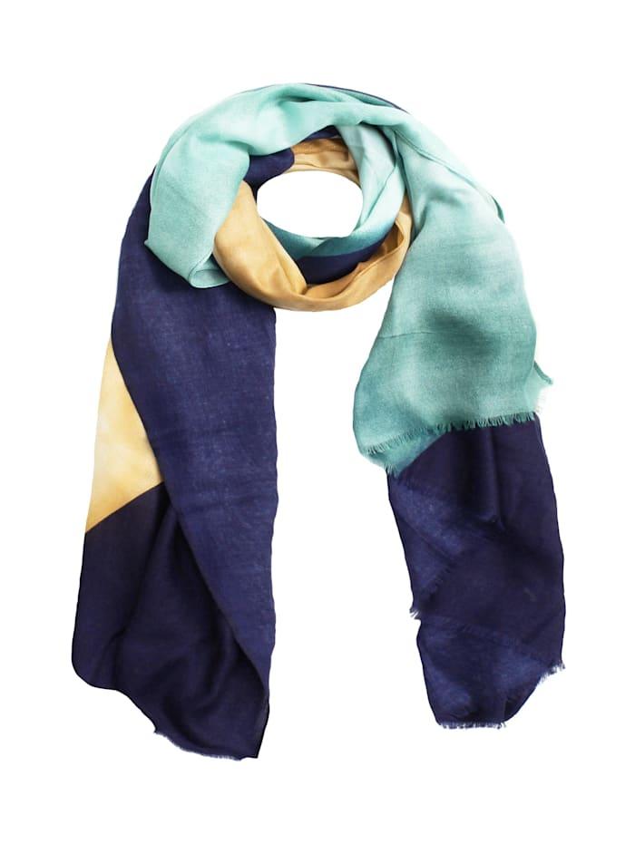 SAMAYA Modeschal Breitschal Fortia, blau