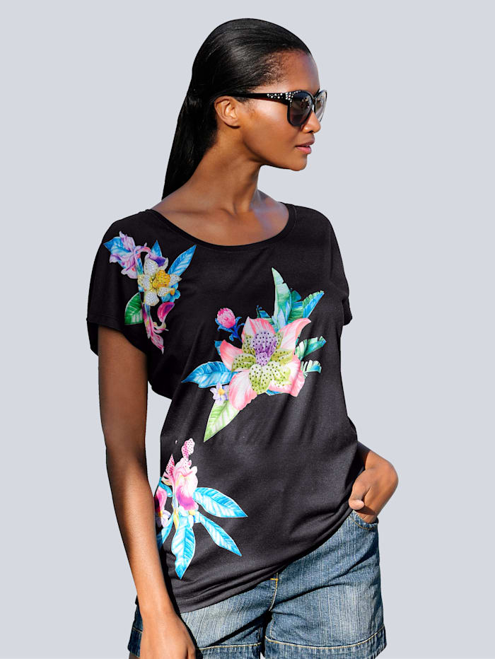 Strandshirt mit Blumenmotiven