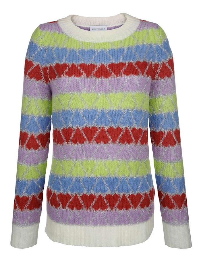 Pullover im Herzen-Dessin