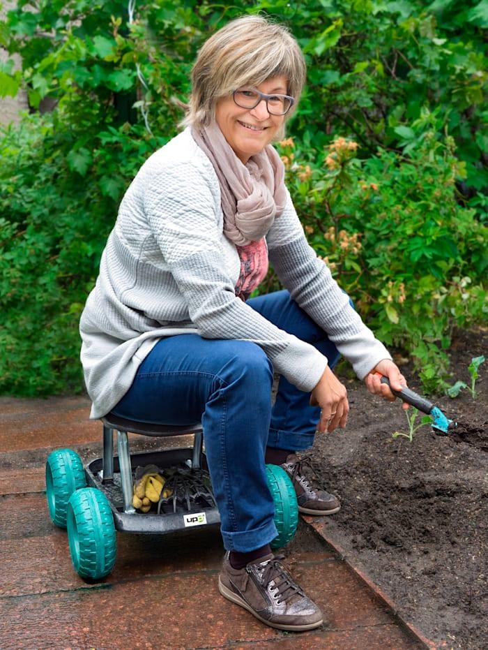 Tabouret de jardinage à roulettes