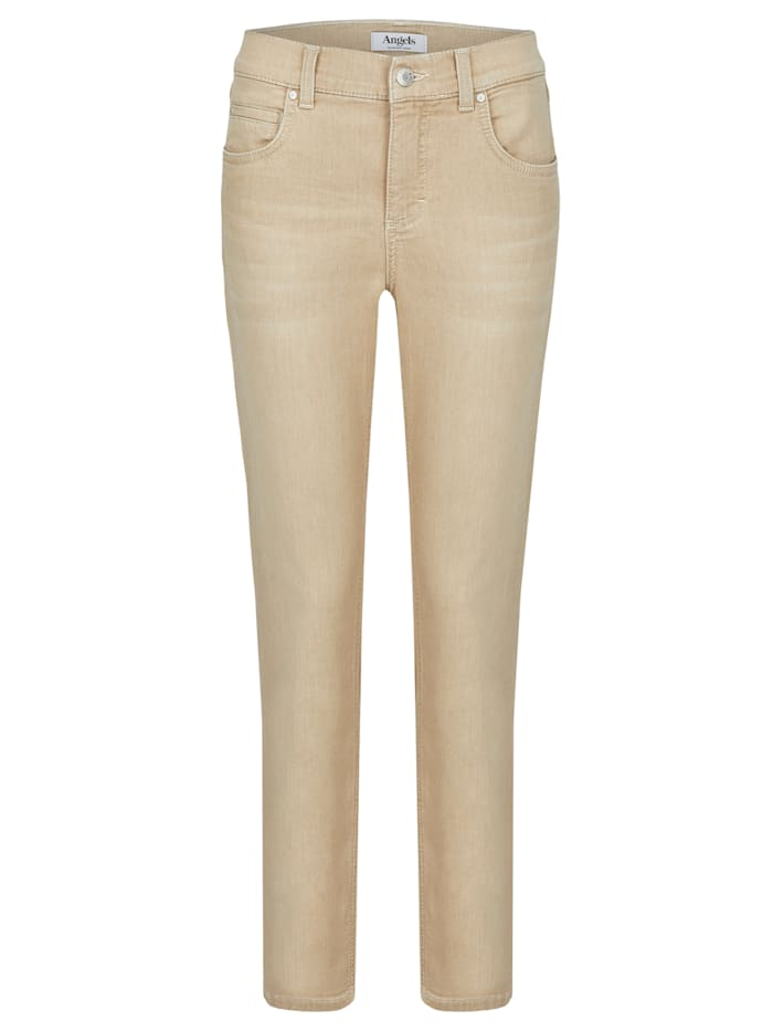 Angels Jeans 'Cici' in Coloured Denim, light camel used