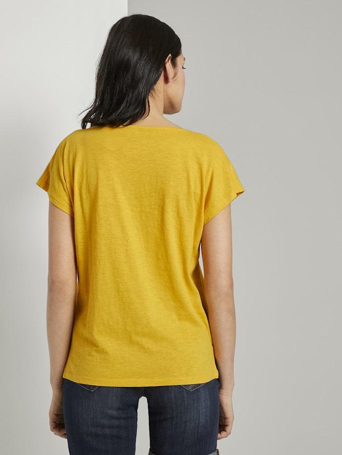 Fein strukturiertes T-Shirt mit Print