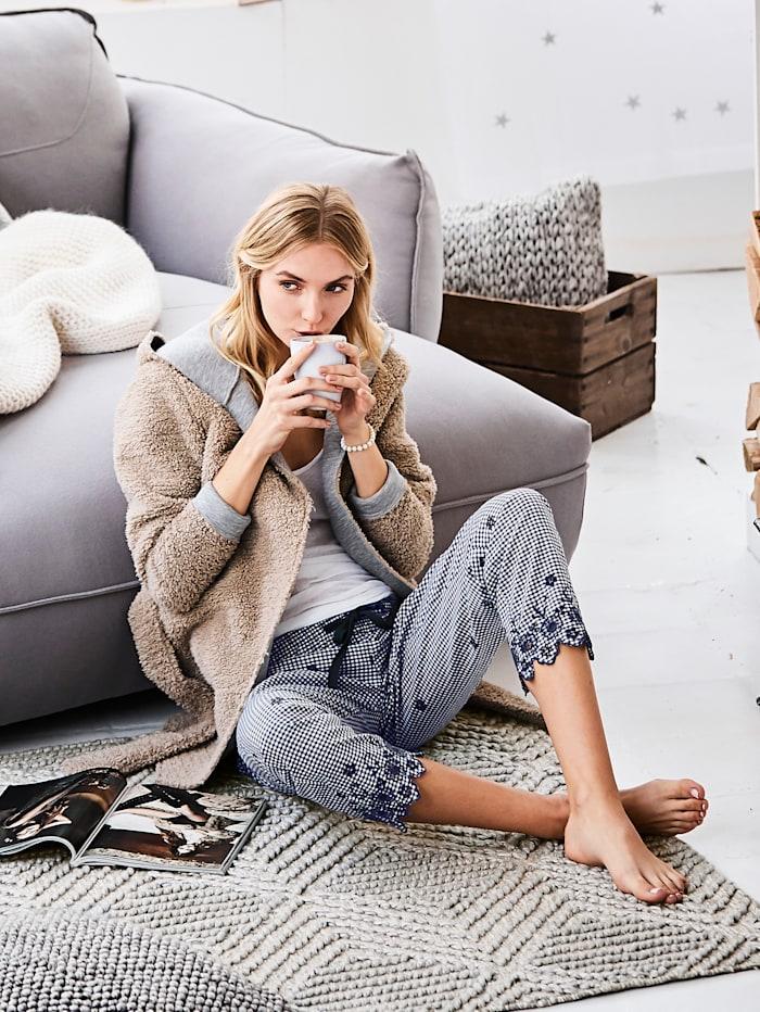 Pyjama-Hose mit Lochstickerei