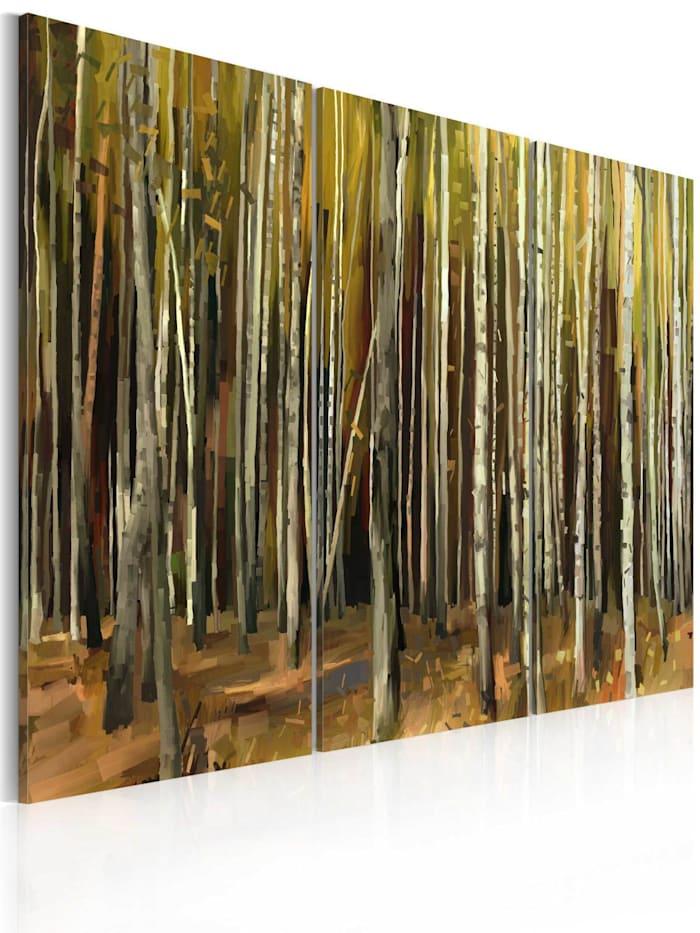 artgeist Wandbild Geheimnis von Sherwood - Triptychon, Braun,Grün,Grau,Orange