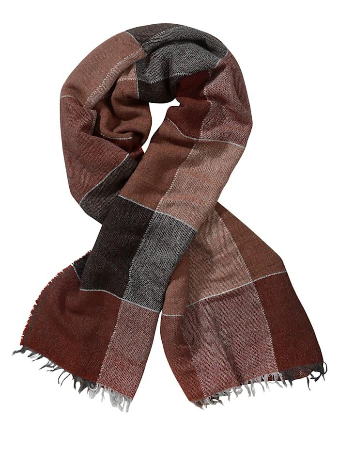 Alba Moda Schal aus weicher Qualität, Braun