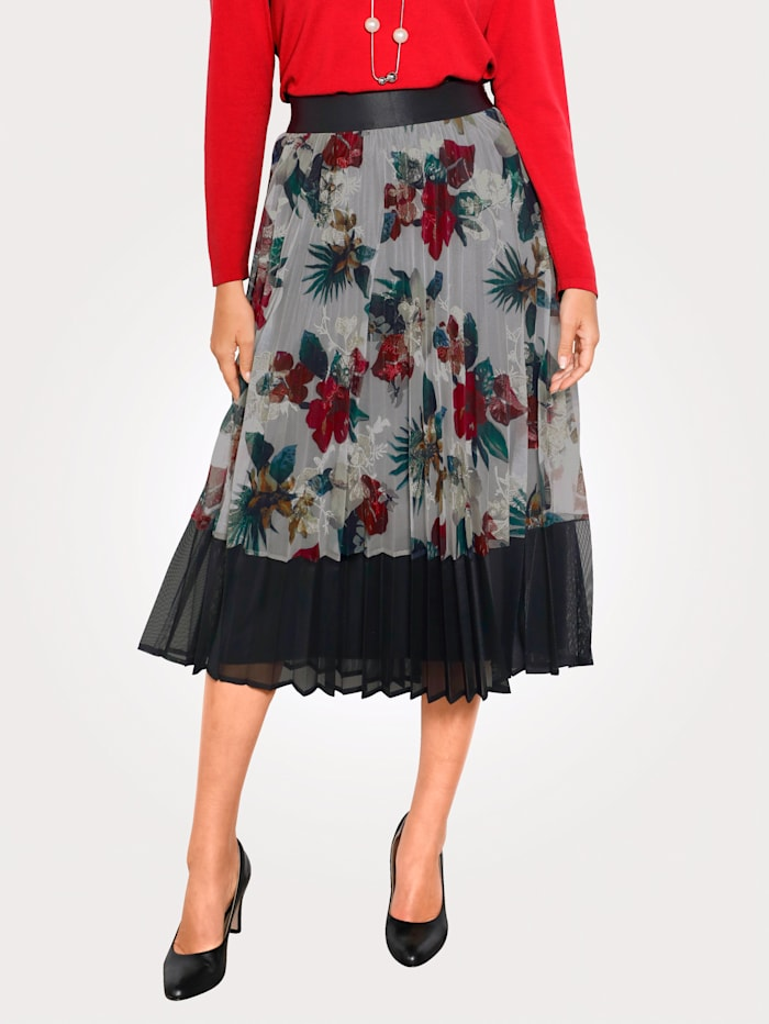 Skirt in a floral print
