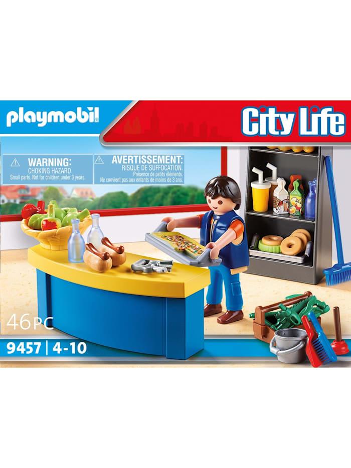 Konstruktionsspielzeug Hausmeister mit Kiosk