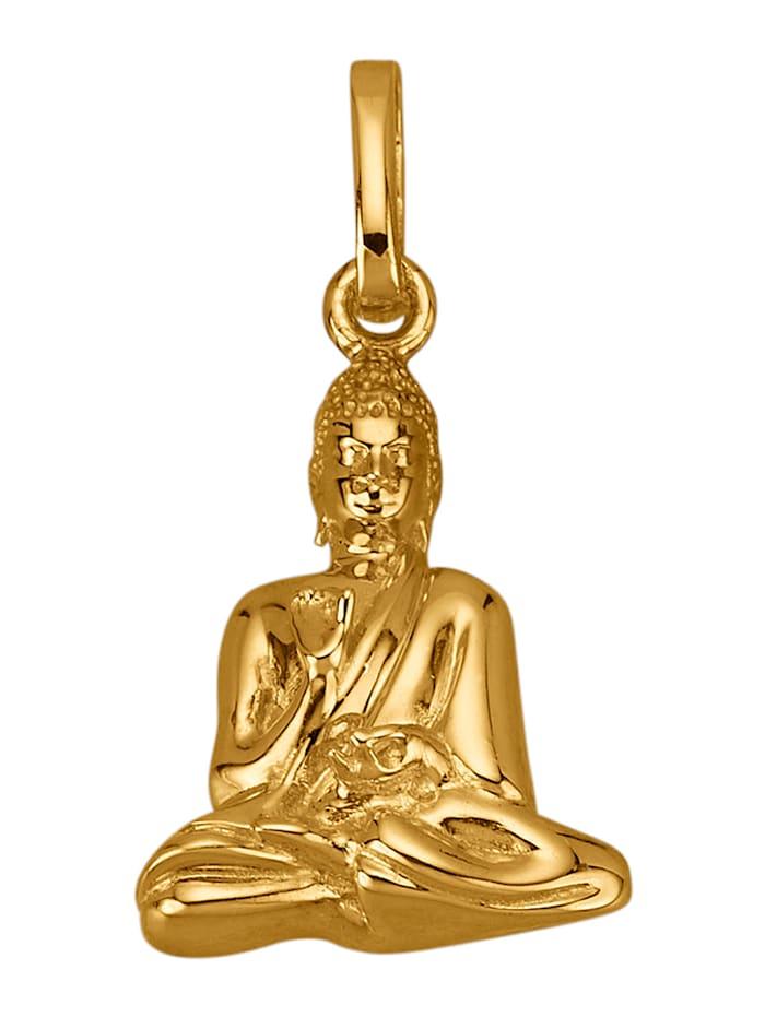 Diemer Gold Buddha-Anhänger in Gelbgold 585, Gelbgoldfarben
