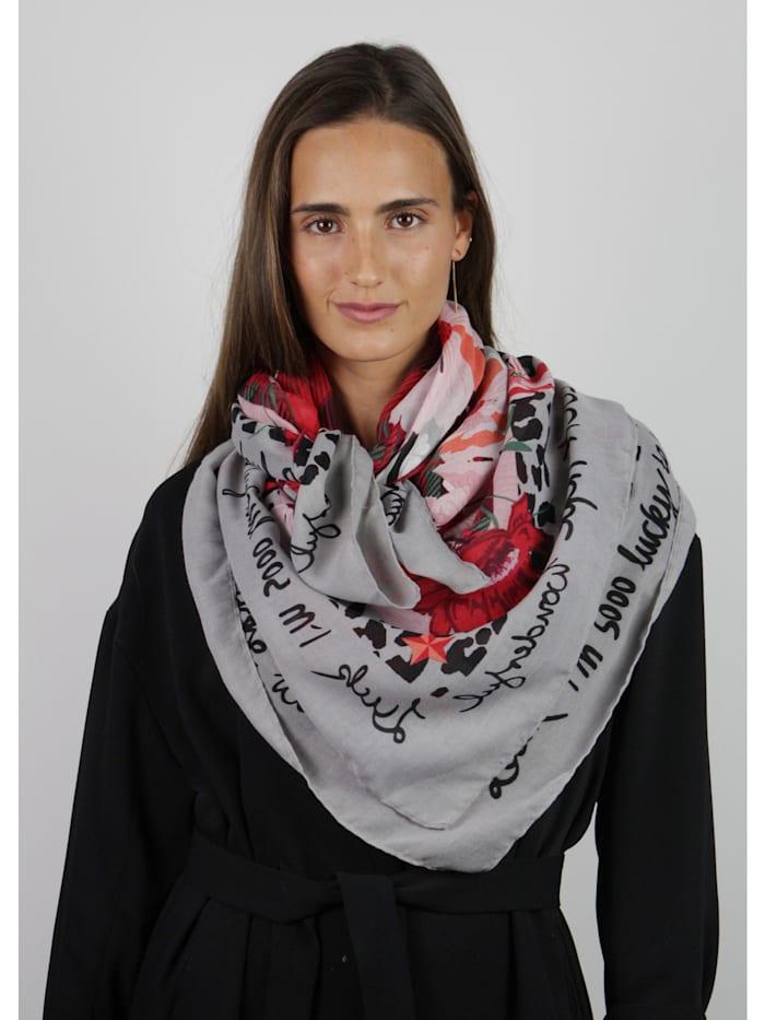 Karo-Tuch im Mustermix aus recyceltem Polyester