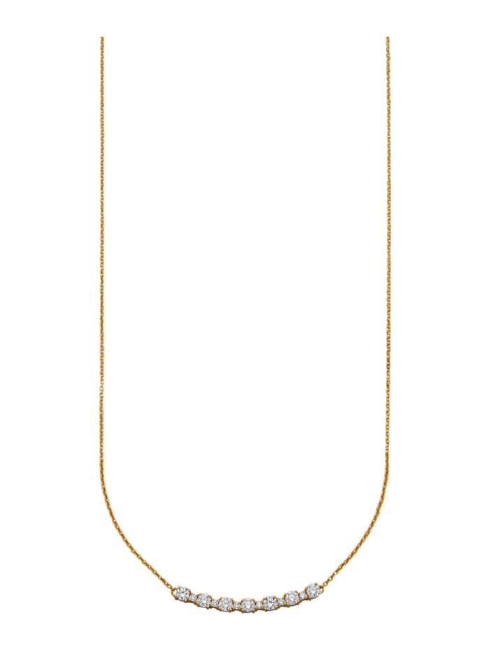 Amara Diamants Collier avec brillants purs à la loupe, Blanc
