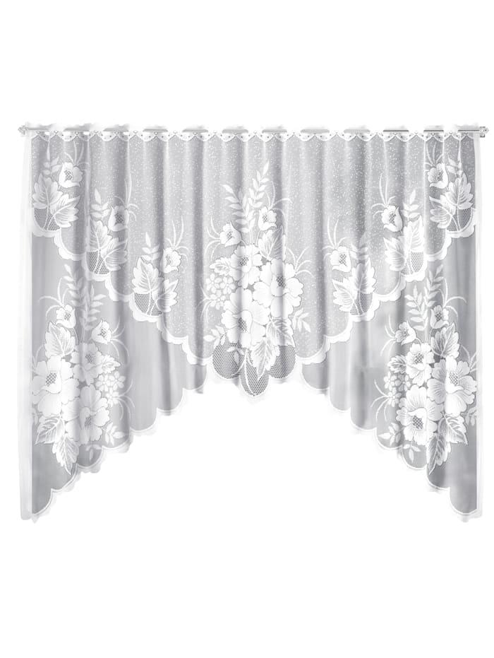 Krátka záclona Agi, biela