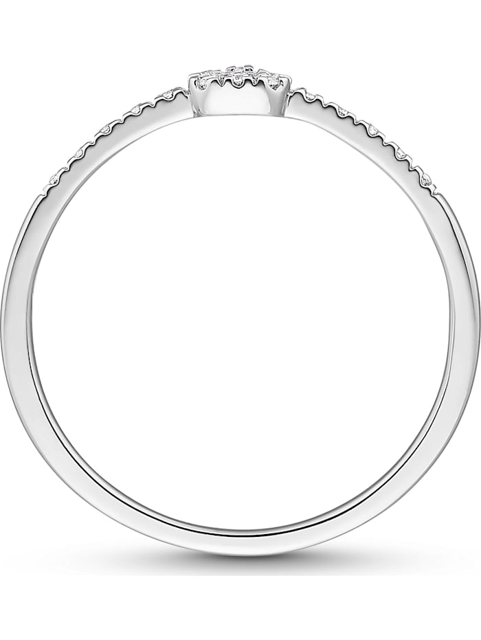 CHRIST Diamonds Damen-Damenring 375er Weißgold 17 Diamant
