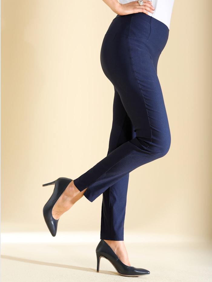 m. collection Pantalon en matière stretch, Marine