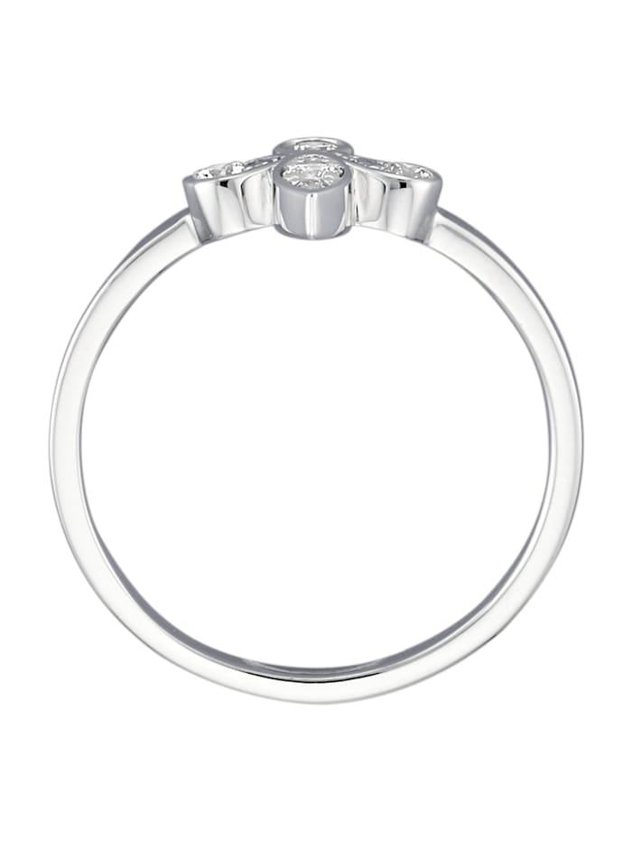 Lilien-Ring mit Brillanten
