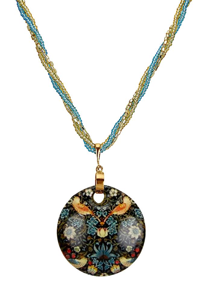 Pendentif en verre de Murano avec chaîne