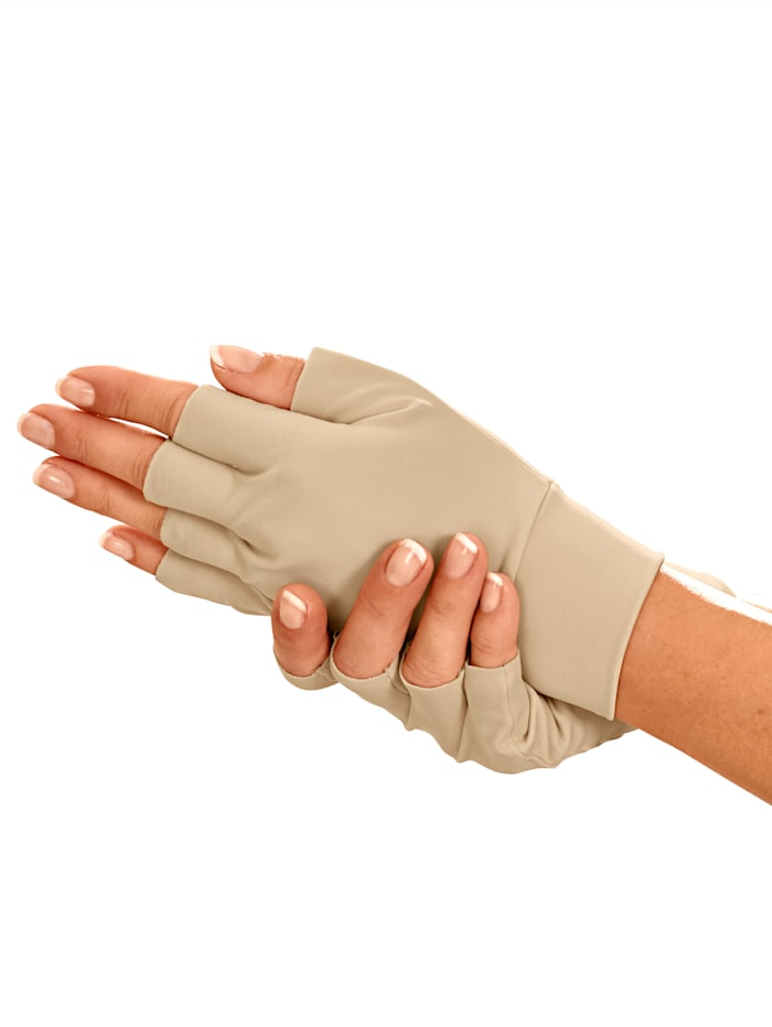 Bandagehandschoenen 1 paar, beige