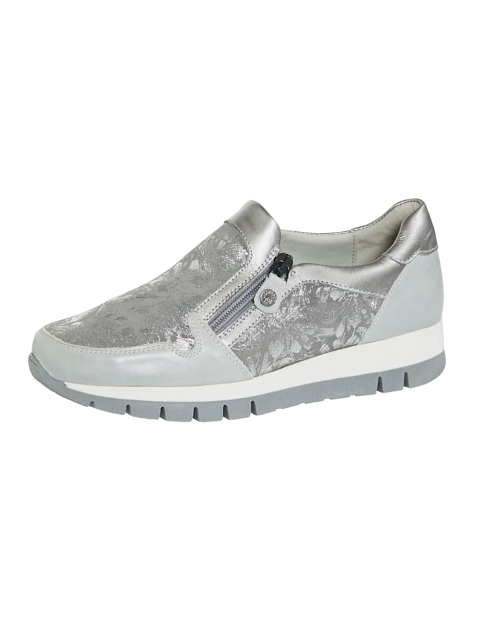 Naturläufer Slip-on shoes with side zip, Grey
