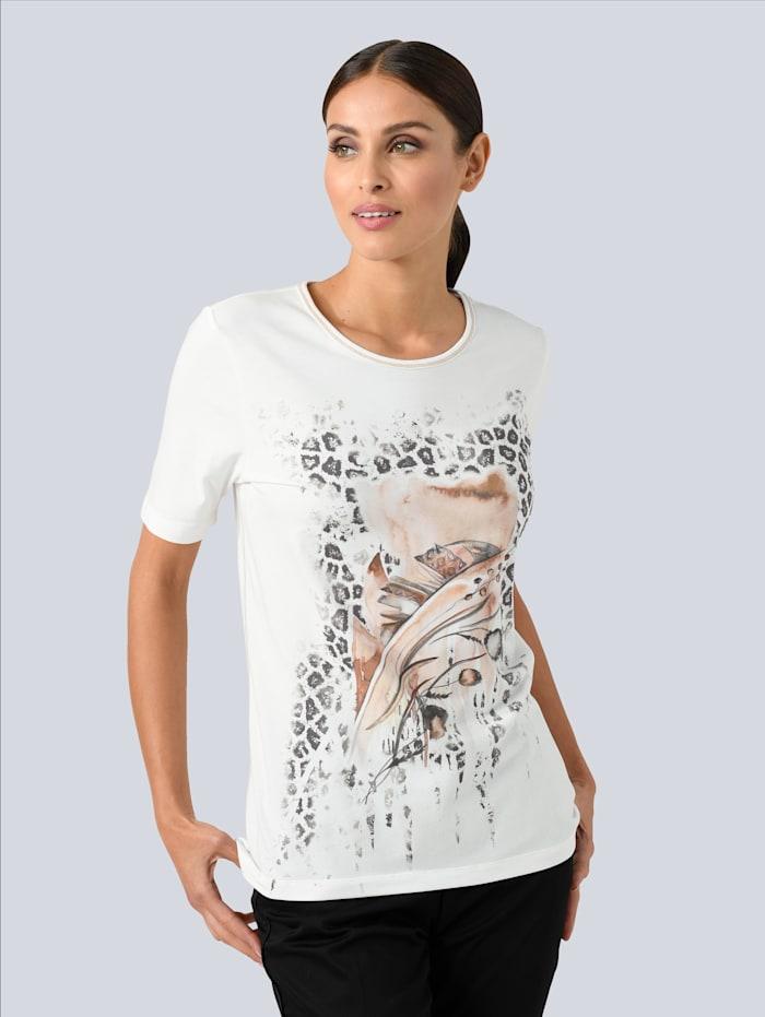 Alba Moda Shirt mit Druckmotiv, Weiß