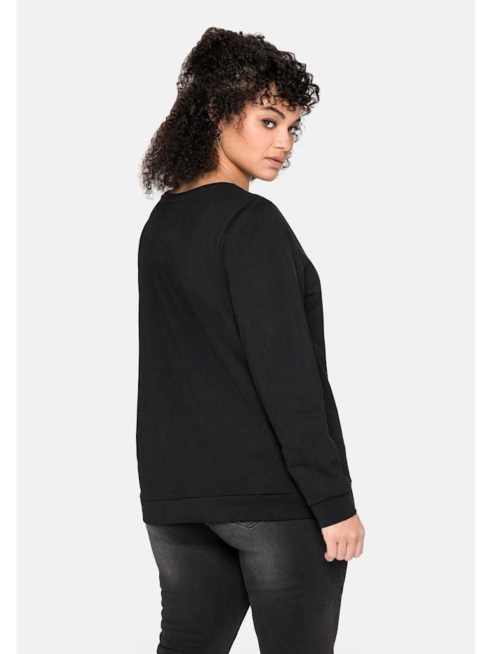 Sweatshirt mit seitlichen Reißverschlüssen