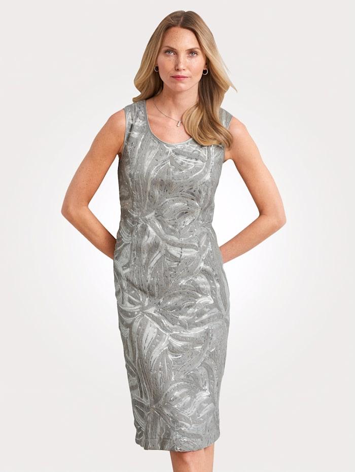 Kleid mit Stickerei und Pailletten