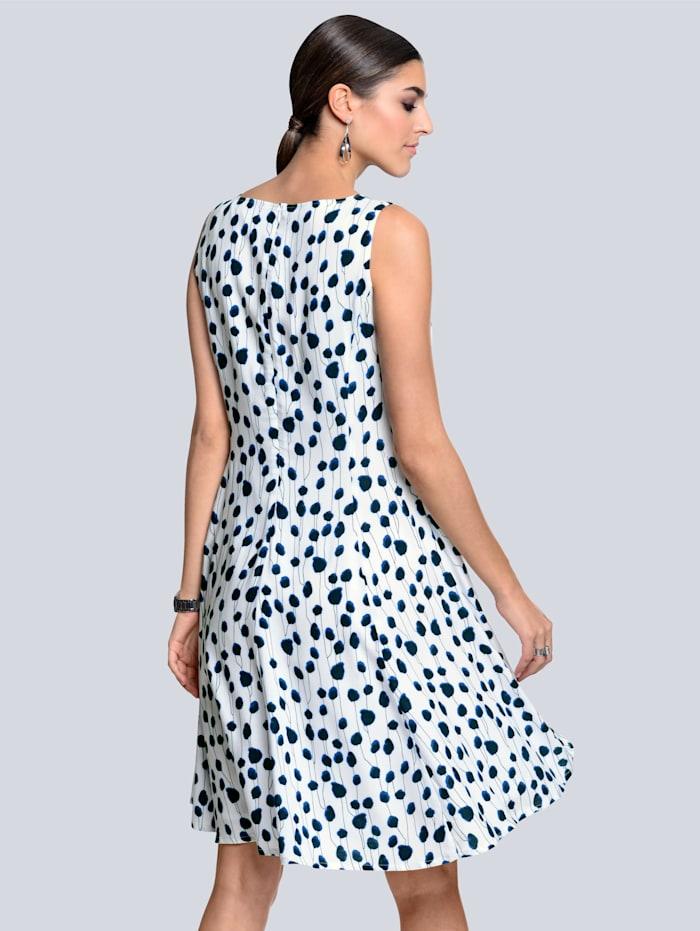 Kleid im femininen Punkte-Dessin