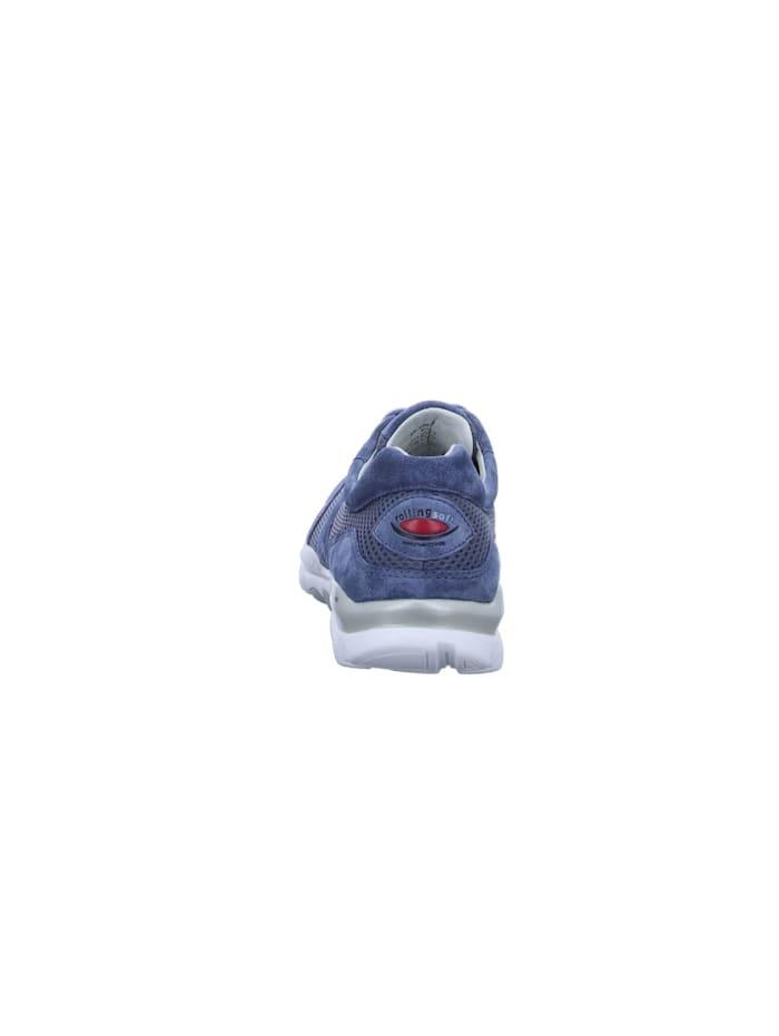 Damen Schnürschuh in mittel-blau