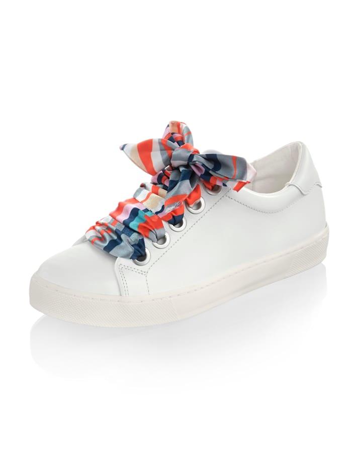 Alba Moda Sneaker mit Hingucker, Weiß/Multicolor