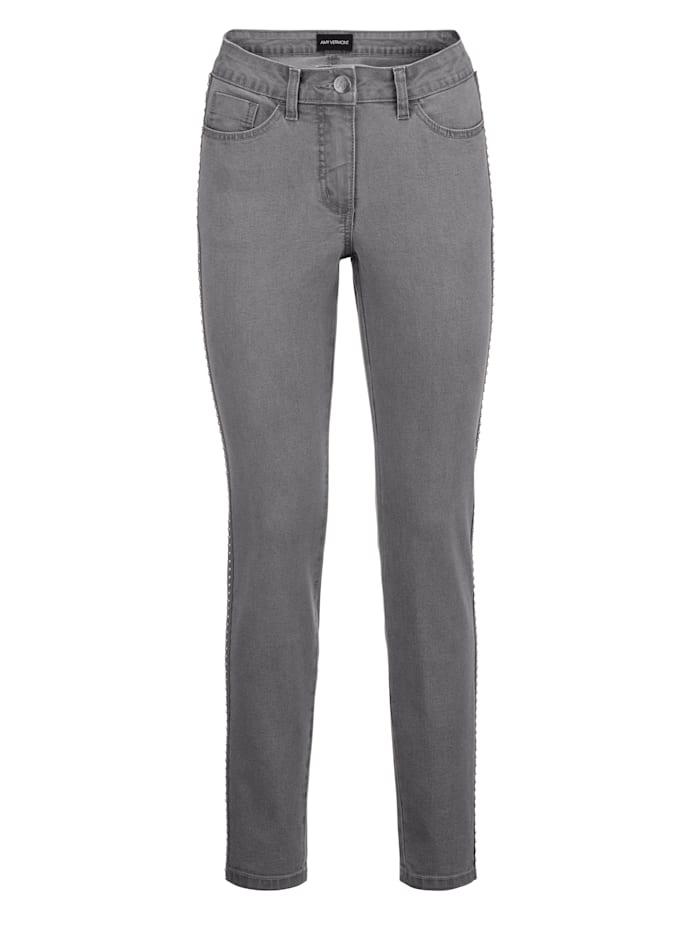 AMY VERMONT Jeans mit seitlichem Zierband, Grey