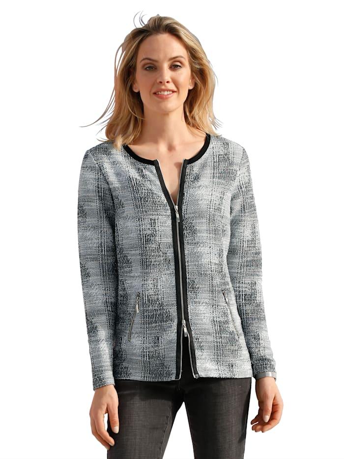 Tričkový kabátek s metalickým vláknem
