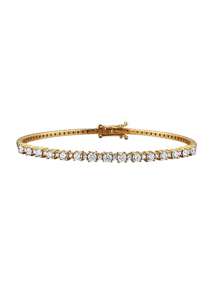 Diemer Diamant Armreif mit lupenreinen Brillanten, Weiß