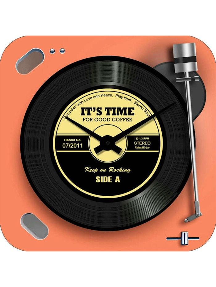 HTI-Line Wanduhr Vinyl, Bunt