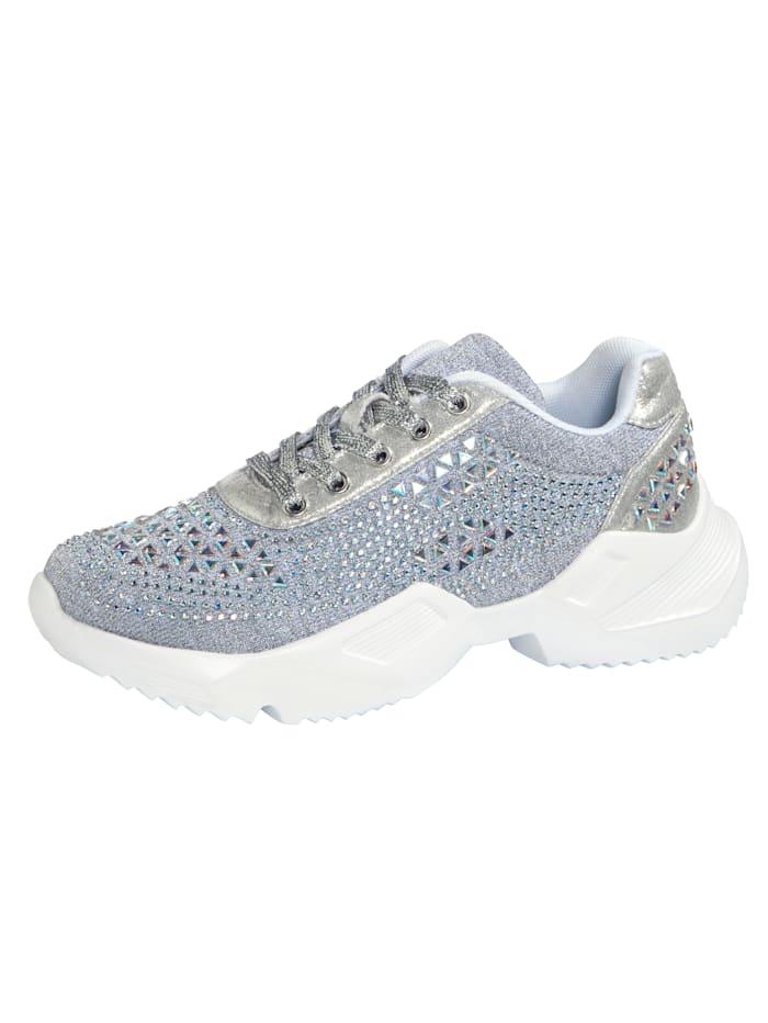 Liva Loop Sneaker in extravaganter Optik, Silberfarben