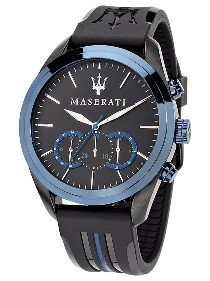 Maserati Traguardo Chronograph Herrenuhr, Schwarz