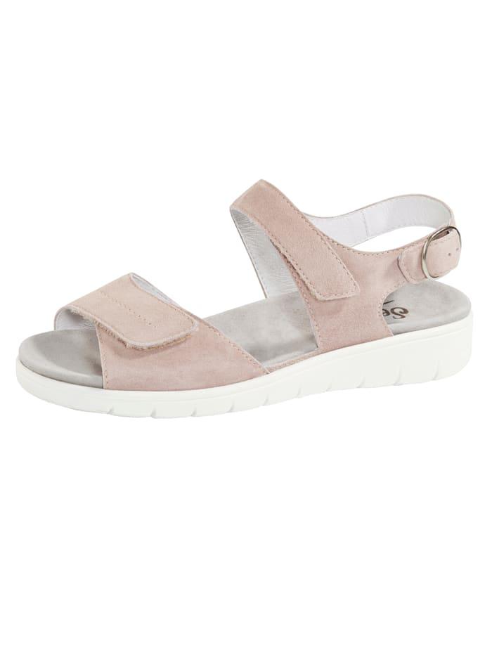 Semler Sandale mit Luftpolsterlaufsohle, Rosé