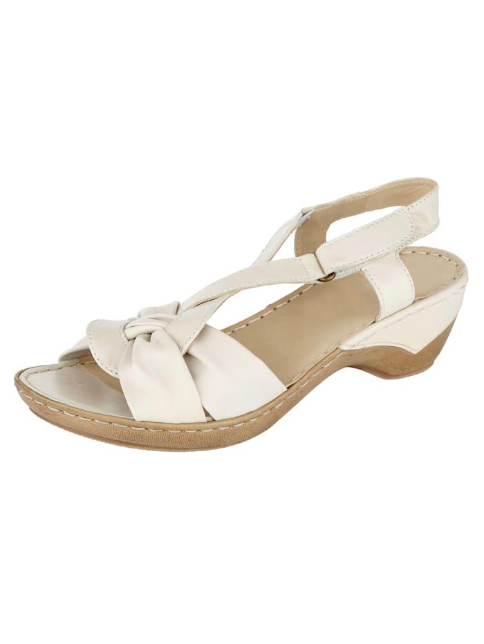 Caprice Sandale, Creme-Weiß