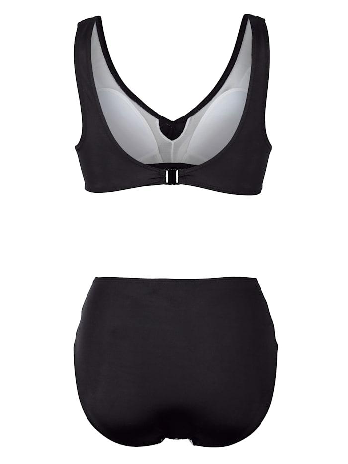 Bikini de coloris noir et blanc