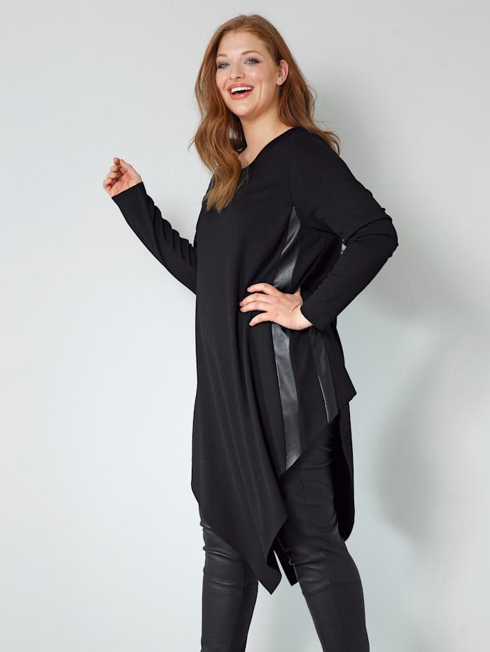 Sara Lindholm Longshirt met puntige zoom, Zwart
