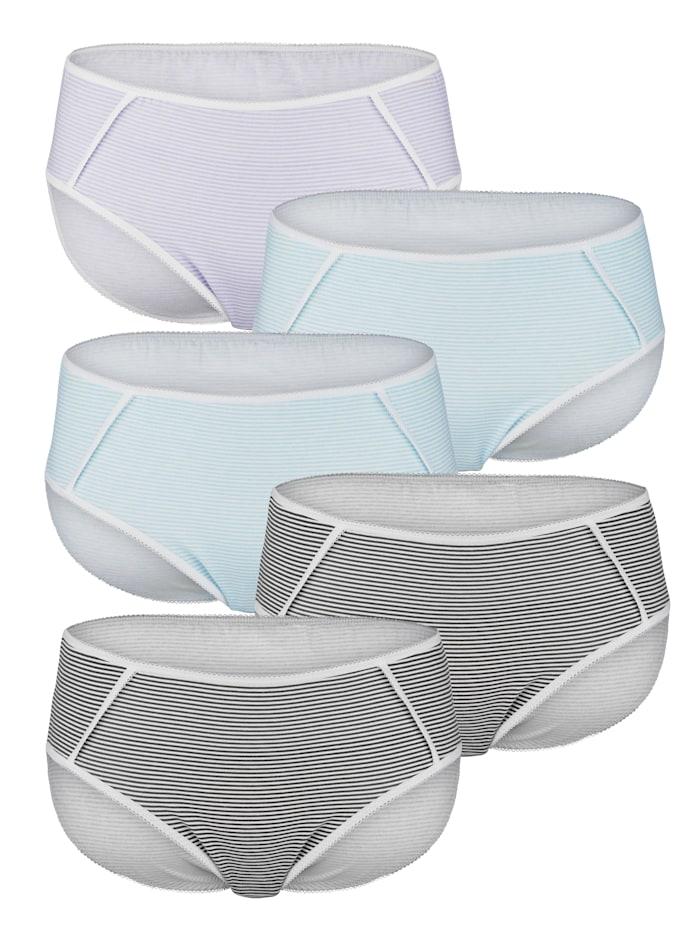Kalhotky s módním proužkovým vzorem 5 kusů