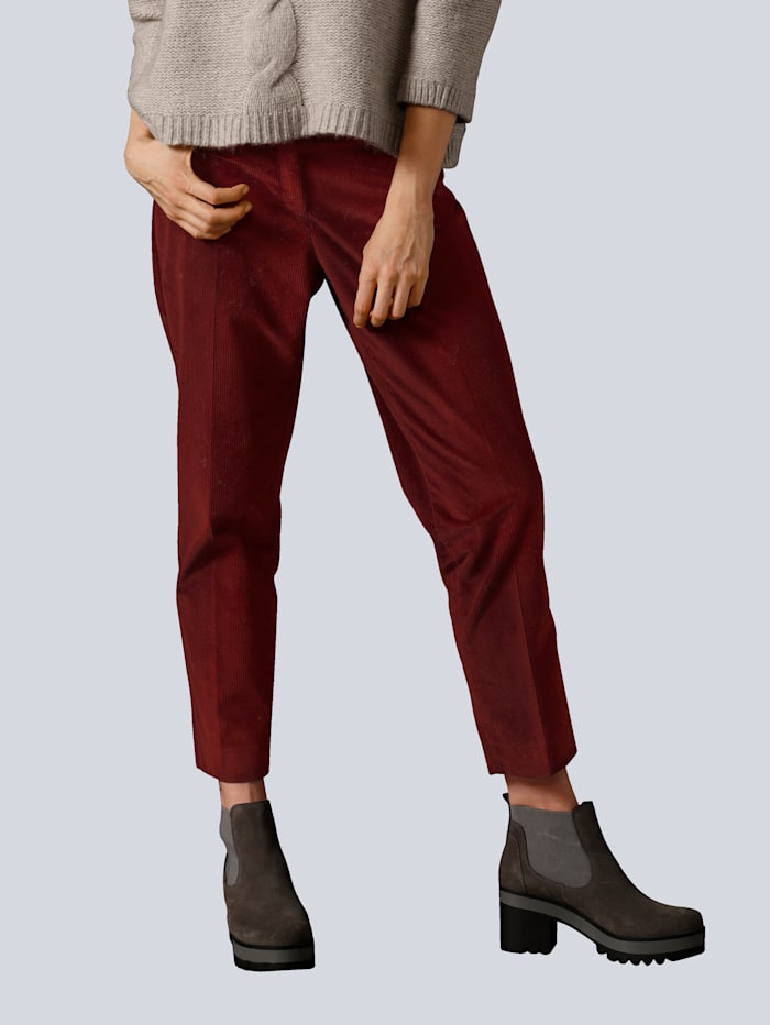 BRAX Hose in modischer Breitcordware, Bordeaux