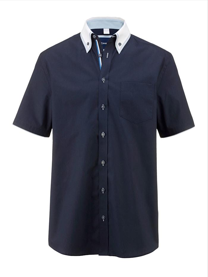 BABISTA Overhemd met dubbele kraag in button-downstijl, Marine