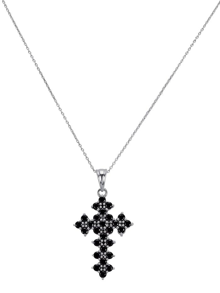 Chaîne avec pendentif Croix, Noir