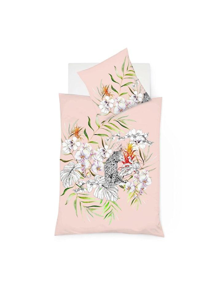 Fleuresse Mako-Satin Bettwäsche Bed Art S Leopard hibiskus, hibiskus